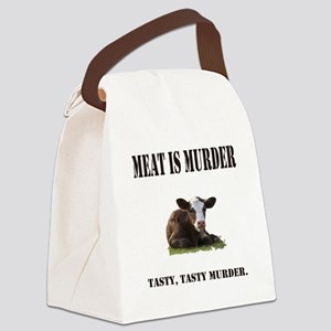 Meat is murder. Canvas Lunch Bag