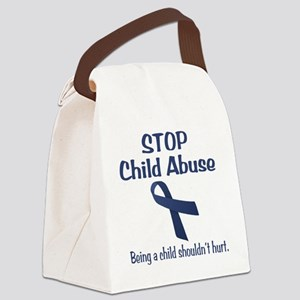 Stop Child Abuse It Hurts Canvas Lunch Bag