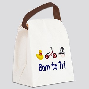 Born to Tri Canvas Lunch Bag