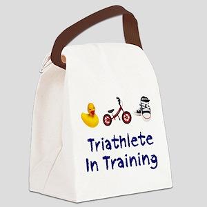 Triathlete in Training Canvas Lunch Bag