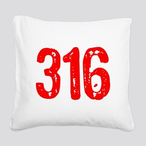 316 Square Canvas Pillow