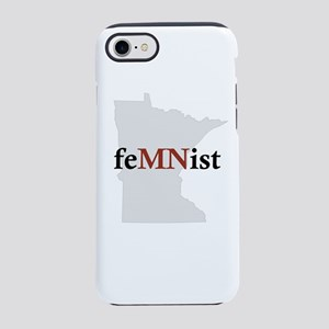 feMNist red state outline iPhone 7 Tough Case