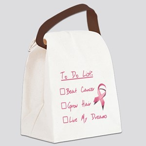 Breast Cancer To Do List Canvas Lunch Bag