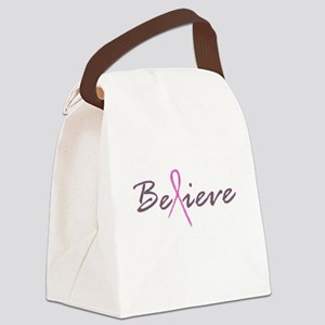 Believe Breast Cancer Canvas Lunch Bag