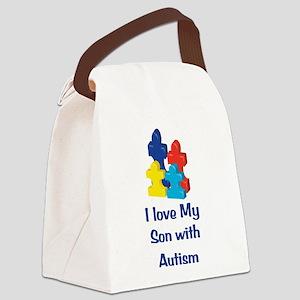 Love Autism Son Canvas Lunch Bag
