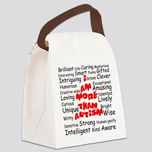 I am more than Autism Canvas Lunch Bag