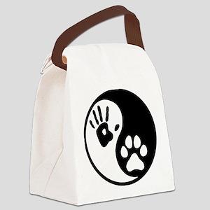 Human & Dog Yin Yang Canvas Lunch Bag