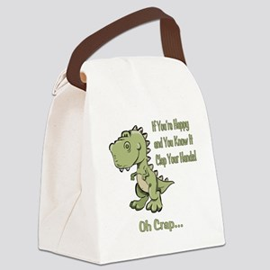 Happy TRex Canvas Lunch Bag