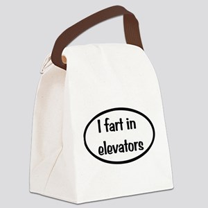 iFart in Elevators Oval Canvas Lunch Bag