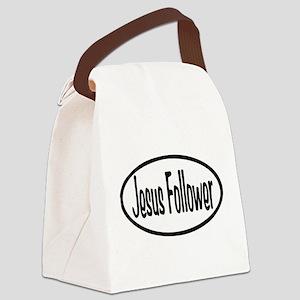 Jesus Follower Oval Canvas Lunch Bag
