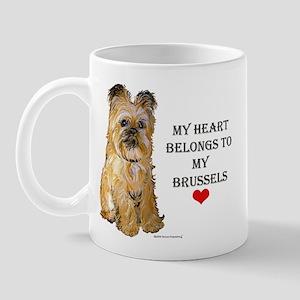 Brussels Griffon Heart Mug