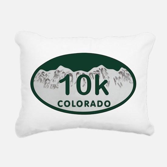 10K Colo License Plate Rectangular Canvas Pillow