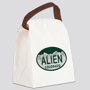 Alien Colo License Plate Canvas Lunch Bag