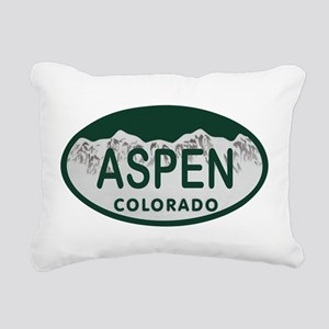 Aspen Colo License Plate Rectangular Canvas Pillow