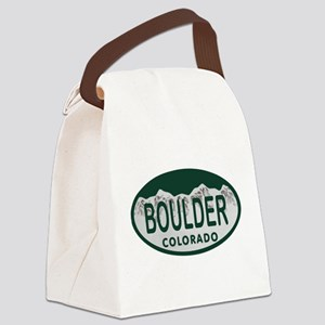 Boulder Colo License Plate Canvas Lunch Bag