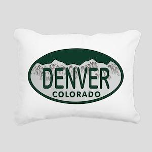 Denver Colo License Plate Rectangular Canvas Pillo