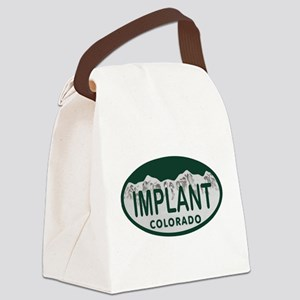 Implant Colo License Plate Canvas Lunch Bag