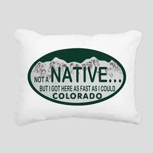 Not a Native Colo License Plate Rectangular Canvas