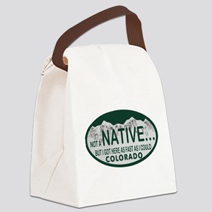 Not a Native Colo License Plate Canvas Lunch Bag