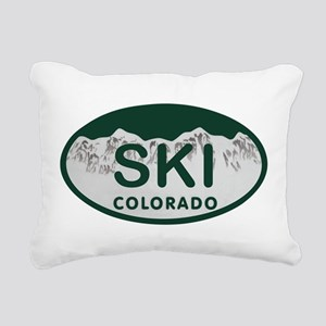 Ski Colo License Plate Rectangular Canvas Pillow