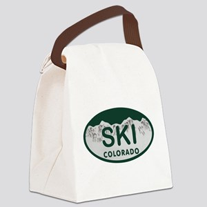 Ski Colo License Plate Canvas Lunch Bag
