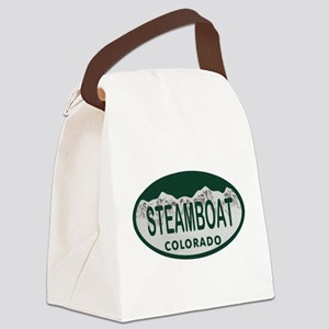 Steamboat Colo License Plate Canvas Lunch Bag