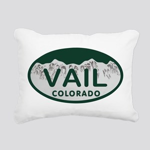 Vail Colo License Plate Rectangular Canvas Pillow