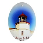 Gallery on the Lake 2017 Poster Oval Ornament