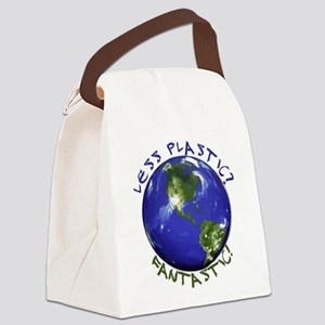 Less Plastic? Fantastic! Canvas Lunch Bag