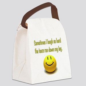 Laugh Hard Canvas Lunch Bag