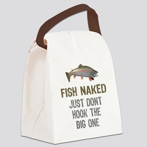 Fish Naked Canvas Lunch Bag