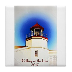 Gallery On The Lake 2017 Poster Tile Coaster