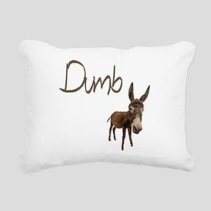 Dumb Donkey Rectangular Canvas Pillow