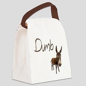 Dumb Donkey Canvas Lunch Bag