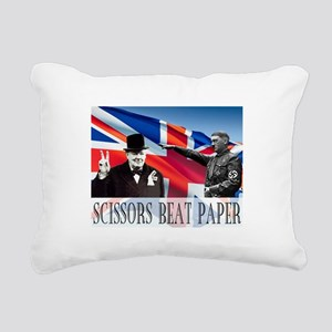 Scissors Beat Paper Rectangular Canvas Pillow