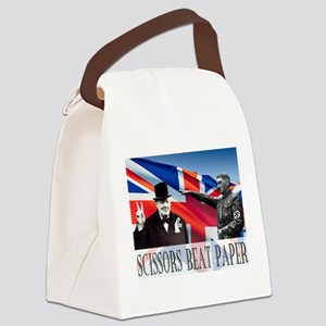 Scissors Beat Paper Canvas Lunch Bag