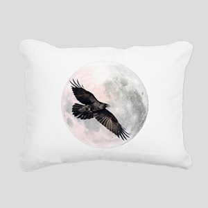 Flying Crow Rectangular Canvas Pillow