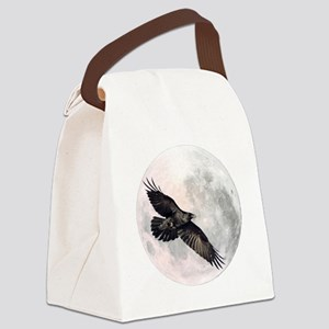 Flying Crow Canvas Lunch Bag