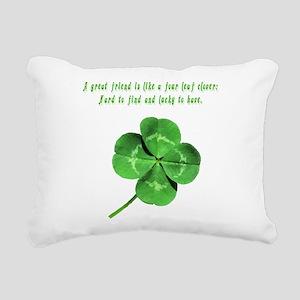 4leafcloverfriend Rectangular Canvas Pillow