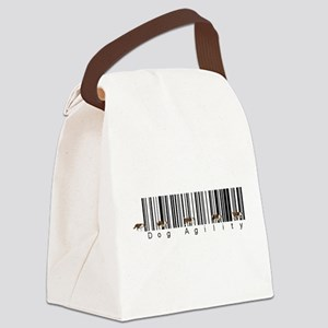 Bar Code Dog Agility Canvas Lunch Bag