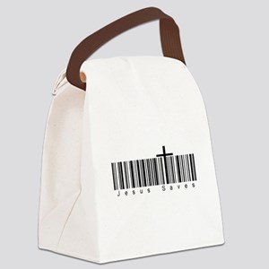 Bar Code Jesus Saves Canvas Lunch Bag