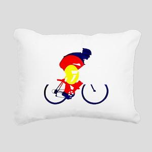 Colorado Cycling Rectangular Canvas Pillow