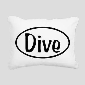 Dive Oval Rectangular Canvas Pillow