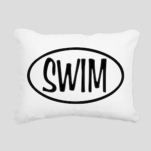 Swim Oval Rectangular Canvas Pillow