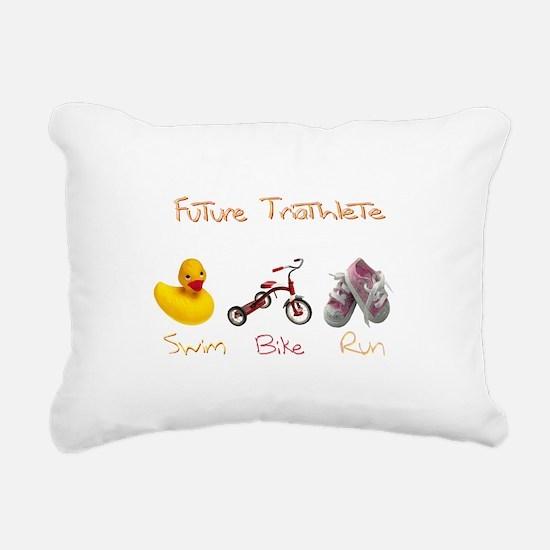 Future Girl Triathlete Rectangular Canvas Pillow