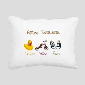 Future Triathlete Rectangular Canvas Pillow