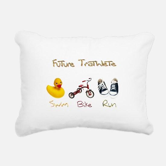 Future Triathlete Rectangular Canvas Pillow