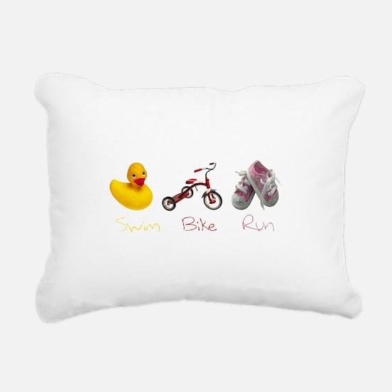 Baby Girl Tri Rectangular Canvas Pillow