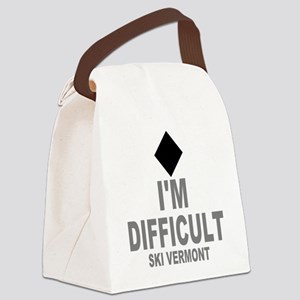 I'm Difficult ~ Ski Vermont Canvas Lunch Bag