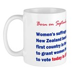 Mug: Women's suffrage: New Zealand became the firs
